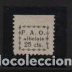 Sellos: ALBOLOTE- GRANADA. 25 CTS,. VARIEDAD A DE ALBOLOTE,-ALLEPUZ Nº 1. VER FOTO. Lote 224043903