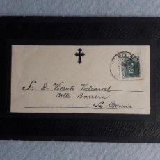 Francobolli: CARTA NECROLÓGIC COMPLETA. LUGO. CHANTADA, MARZO DE 1939.. Lote 224357822