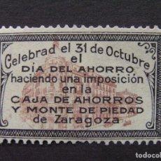Sellos: VIÑETA 31 OCTUBRE - DIA DEL AHORRO - CAJA DE AHORROS Y MONTE DE PIEDAD DE ZARAGOZA. Lote 224643036