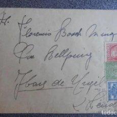 Sellos: SOBRE TIMBRADO DESDE EL FRENTE DE LA GUERRA CIVIL A IBARS DE URGEL, LÉRIDA, 1937, FRANQUEO ESPECIAL. Lote 224913452