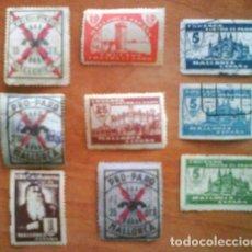 Sellos: LOTE NUEVE VIÑETAS CONTA EL PARO - MALLORCA. Lote 225036215