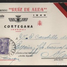 Sellos: POSTAL DIRIGIDA DE CORTEGANA-HUELVA- AL JEFE DEL ESTADO DE ESPAÑA- MADRID- VER FOTOS. Lote 225070320
