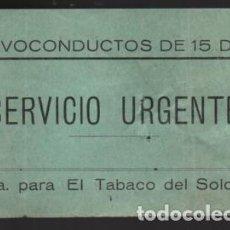 Sellos: SAN SEBASTIAN-?? 1 PTA. PARA EL TABACO DEL SOLDADO.- SERVICIO URGENTE- VER FOTO. Lote 225090423