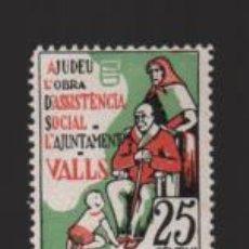 Sellos: VALLS- TARRAGONA, 25 CTS.- ASISTENVCIA SOCIAL- SOFIMA Nº 1.- VER FOTO. Lote 225090715