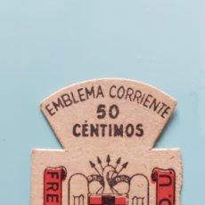 Selos: EMBLEMA CORRIENTE FRENTE JUVENTUDES. 50 CÉNTIMOS. PINS. Lote 225146018