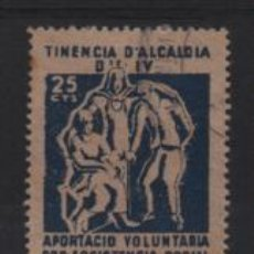 Sellos: BARCELONA, 25 CTS,- PRO ASISTENCIA SOCIAL. SOFIMA Nº 91, VER FOTO. Lote 225194620
