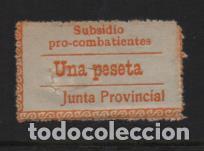 JUNTA PROVINCIAL,- 1 PTA, SUBSIDIO AL COMBATIENTE, VER FOTO (Sellos - España - Guerra Civil - Viñetas - Usados)
