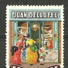 Sellos: 0268 VIÑETA PUBLICITARIA DEL AÑO DEL CENTENARIO DE JUAN DELOFEU. Lote 225658371