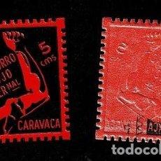 Sellos: GG GUERRA CIVIL CARAVACA SOCORRO ROJO INTERNACIONAL VARIEDAD PARCIALMENTE CALCADO FESOFI Nº 1A D. 10. Lote 225707438