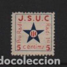 Selos: VIÑETA,- J.S.U.C. 10 CTS. PRO RADI.- VER FOTO. Lote 225743975