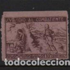 Sellos: ASTURIAS.- 10 CTS,- SUBSIDIO AL COMBATIENTE,- VER FOTO. Lote 225744827