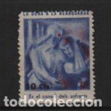 Sellos: VIÑETA- LA DONA A LA RERAGUARDA, 10 CTS,- VER FOTO. Lote 225745260