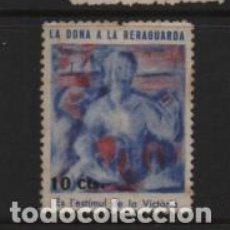 Sellos: VIÑETA- LA DONA A LA RERAGUARDA, 10 CTS,- VER FOTO. Lote 225745430