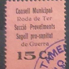 Francobolli: GUERRA CIVIL. RODA DE TER. CONSELL MUNICIPAL. Lote 225954565