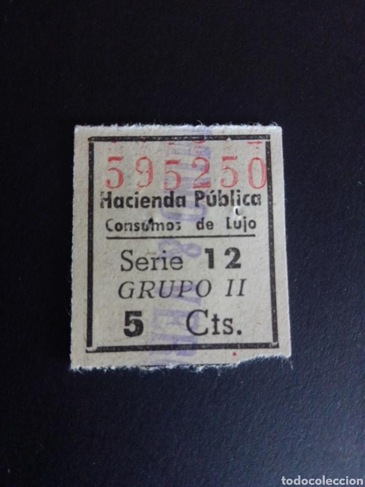 CUPÓN DE LA HACIENDA PÚBLICA. CONSUMOS DE LUJO. (Sellos - España - Guerra Civil - De 1.936 a 1.939 - Usados)