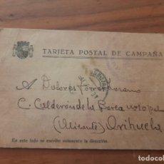 Timbres: TARJETA POSTAL DE CAMPAÑA 04.02.1937. ORIHUELA, ALICANTE. Lote 226372650