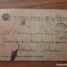 Timbres: TARJETA POSTAL DE CAMPAÑA 29.01.1937. ORIHUELA, ALICANTE. Lote 226373215