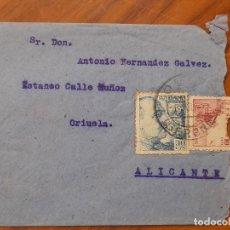 Timbres: SOBRE DE CARTA MILITAR REGIMIENTO DE FOTIFICACION GERONA - ALICANTE. Lote 226443250