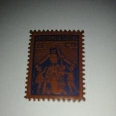 Sellos: VIÑETA.- 25 CTS- ASISTENCIA SOCIAL- VER FOTO. Lote 219378571