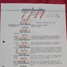 Sellos: 16 VIÑETAS CONGRÉS DE CULTURA CATALANA 1977. CARTA DEL CONGRÉS AL AYUNTAMIENTO BENIFALLET. Lote 227880840