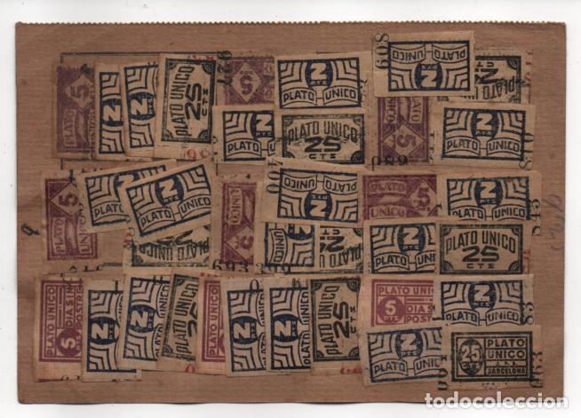 Sellos: BARCELONA,- FICHA -PLATO UNICO Y DIA SIN POSTRES- 48 SELLOS. VER REVERSO. VER FOTOS - Foto 2 - 227909995