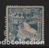 VIÑETA,- 10 CTS. SEGELL PRO-BIBLIOTECA.-VER FOTO (Sellos - España - Guerra Civil - Viñetas - Nuevos)