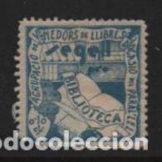 Sellos: VIÑETA,- 10 CTS. SEGELL PRO-BIBLIOTECA.-VER FOTO. Lote 248668035