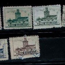Selos: LOTE 9 SELLOS LOCALES PRO BADAJOZ, ESPAÑA GUERRA CIVIL. Lote 228509585