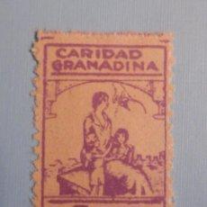 Sellos: VIÑETA - BENEFICENCIA - LOCAL - CARIDAD GRANADINA - 5 CTS - LILA - NUEVO, CON GOMA - SIN CHARNELA. Lote 228676085