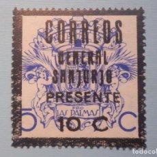 Sellos: VIÑETA - BENEFICENCIA - PRO LAS PALMAS - SOBRE CARGA 10 CTS, CORREOS, GENERAL SANJURJO PRESENTE. Lote 228838465