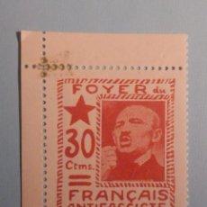 Sellos: SELLO VIÑETA - FOYER DU FRANCAIS ANTIFASCISTE - 30 CTMS - NUEVA. Lote 228838810