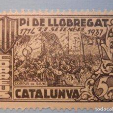 Sellos: CORREOS CATALUNYA - PI DE LLOBREGAT - 11 SEPTIEMBRE 1937 - 5 CTS - NUEVO - CON GOMA. Lote 228874985