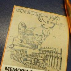 Sellos: MEMORIA DEMOCRATICA, TRENES DE LA MUERTE AGOSTO 1936 JAEN. FLYER FACSIMIL, COPIA.. Lote 229124605