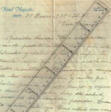 Sellos: 1939 CARTA ENTRE DOS HERMANAS SOBRE LA TIRANÍA ROJA Y LAS GLORIOSAS TROPAS DE FRANCO. Lote 229694640