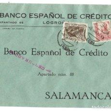Sellos: 1937 (9 MAR 1937) CARTA CENSURA. LOGROÑO A SALAMANCA. GUERRA CIVIL.CRUZADA CONTRA EL FRIO. Lote 230306745