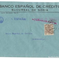 Sellos: 1937 (3 MAR) CARTA FRANQUEO ESPECIAL MÓVIL CENSURA. SORIA A SALAMANCA. GUERRA CIVIL.. Lote 230308775