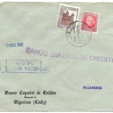 Sellos: 1937 ( MAR) CARTA CENSURA ALGECIRAS (CÁDIZ). GUERRA CIVIL. SELLO REPÚBLICA + SELLO DIPUTACIÓN. Lote 230463970