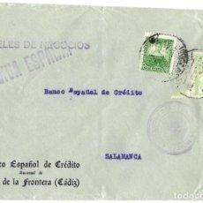 Sellos: 1937 CARTA IMPRESOS CENSURA JEREZ (CÁDIZ). GUERRA CIVIL. SELLO REPÚBLICA + SELLO PROVINCIAL. Lote 230464900