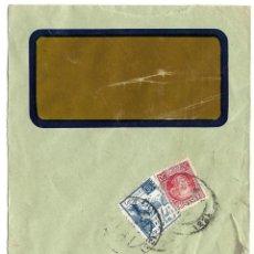 Sellos: 1938 (NOV) CARTA CENSURA SAN SEBASTIAN. GUERRA CIVIL. SELLO REPÚBLICA + CRUZADA CONTRA EL FRIO. Lote 230575930