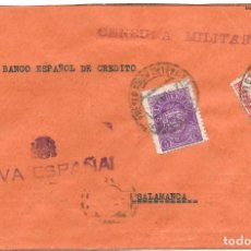 Sellos: 1937 CARTA CENSURA PEÑARROYA, CÓRDOBA A SALAMANCA. GUERRA CIVIL SELLO ISABEL + BENEFICO. Lote 230621460