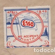 Sellos: CARTA CIRCULADA D BILBAO A NEW YORK.REVERSO.- VIÑETA -ESSO APRIL 1940.- VER FOTOS. Lote 230658980