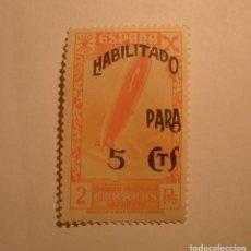 Sellos: ESPAÑA 1940 - CORREOS ORFANATO, 2 PTS. - SOBRECARGA, HABILITADO PARA 5 CTS - ZEPPELIN - NUEVO.. Lote 254067130