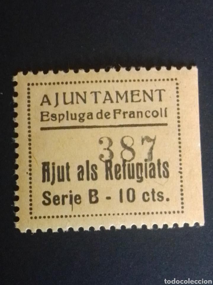 VIÑETA. AJUT ALS REFUGIATS. ESPLUGA DE FRANCOLÍ. TARRAGONA. (Sellos - España - Guerra Civil - Locales - Nuevos)
