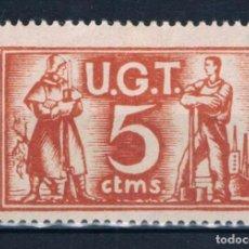 Sellos: VIÑETA GUERRA CIVIL. UGT 5 CTMS. * LOT016. Lote 230818140