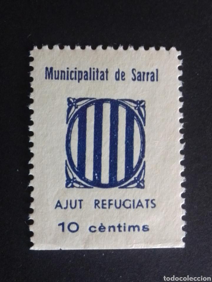 VIÑETA. AJUT ALS REFUGIATS. SARRAL. TARRAGONA. (Sellos - España - Guerra Civil - Locales - Nuevos)