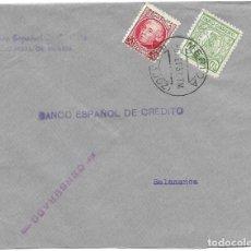 Sellos: 1937 CARTA CENSURA MÉRIDA BADAJOZ GUERRA CIVIL. SELLO REPÚBÚBLICA + VIÑETA PARO OBRERO. Lote 230957855