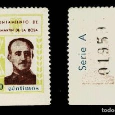 Timbres: 0196 GUERRA CIVIL CHAMARTIN DE LA ROSA (MADRID) EFIGIE DE FRANCO FESOFI Nº 6 VALOR 10 CTS. COLOR CAS. Lote 231550210