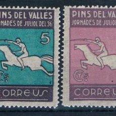 Francobolli: ESPAÑA PINS DEL VALLES NUEVOS 1937 MNH**. Lote 232221485