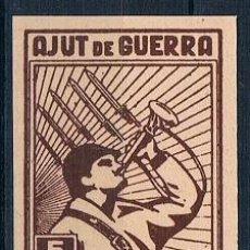 Sellos: ESPAÑA LLORENS AJUT DE GUERRA NUEVO SIN DENTAR MNH**. Lote 232221830