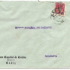 Sellos: 1936 (SEP.) CARTA FRANQUEADA SÓLO CON SELLO 30C COMEDORES MUNICIPALES AYUNNATIENTO CÁDIZ AGOSTO 1936. Lote 232759388